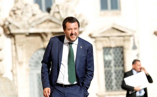 Liga in njen prvak Matteo Salvini pripada svetu moči. FOTO: Reuters