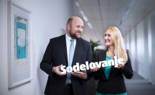 Matej Šauperl, menedžer v oddelku marketinga in komunikacij, in Brigita Jäger, strokovna sodelavka v oddelku marketinga