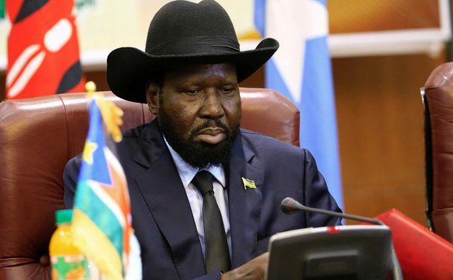 Južnosudanski predsednik Salva Kiir FOTO: Mohamed Nureldin Abdallah/Reuters