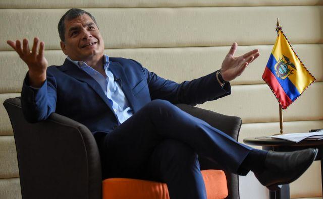 Rafael Correa se je z družino v Belgijo preselil lani po zaključku predsedniškega mandata. FOTO: AFP