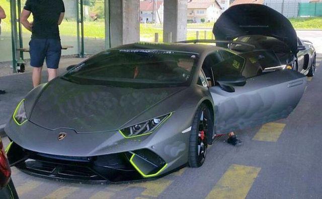 Lamborghini huracan FOTO: Policija
