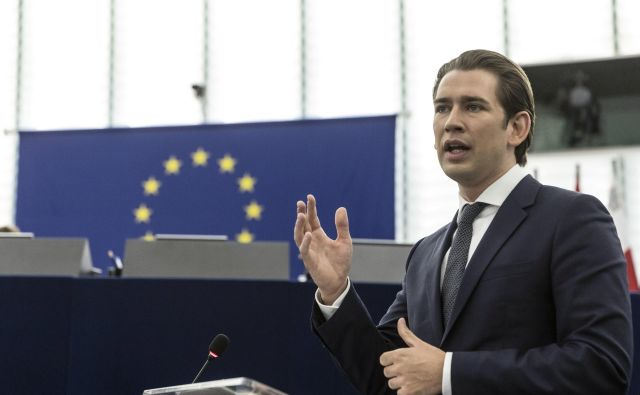 Avstrijski kancler Sebastian Kurz FOTO: Jean-francois Badias/AP