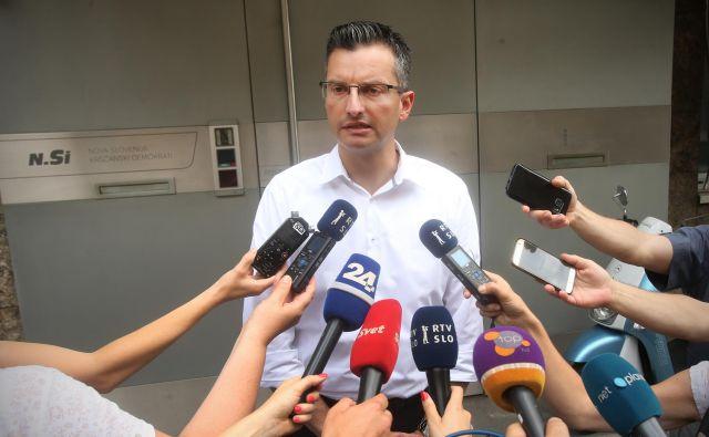 Marjan Šarec 46 potrebnih glasov za izvolitev za mandatarja še nima. FOTO: Jure Eržen/Delo