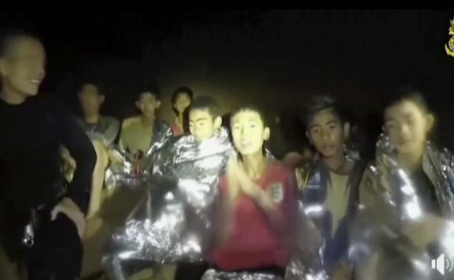 Najstniki so ujeti v jami že od 23. junija. FOTO: AP<br />