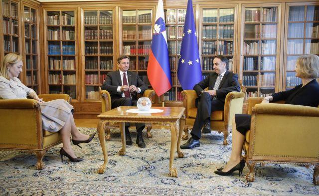 Borut Pahor in Brane Golubovič med pogovori o izbiri mandatarja za sestavo vlade FOTO: Uroš Hočevar