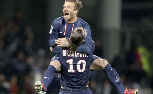 <em>Ibra </em>in <em>Becks </em>sta nekaj časa skupaj igrala za francoski PSG. FOTO: Reuters