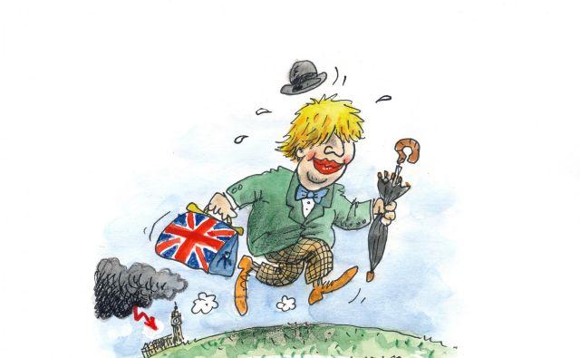 Theresa May pri sklepanju dogovora z EU še zdaleč ne bo imela prostih rok. KARIKATURA: Marko Kočevar