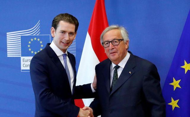 Od Junckerja je Kurz dobil na najbolj diplomatski način izrečen nasvet, češ, »če bi predsedoval svetu EU, ne bi nastopal tako domišljavo, saj vem, kako težko je dosegati kompromise med državami članicami«. FOTO: Francois Lenoir/Reuters