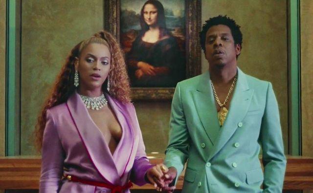 Video Apeshit, ki sta ga Beyonce in Jay Z posnela v Louvru, je na youtubu zabeležil že preko 65 milijonov ogledov.FOTO: Youtube.