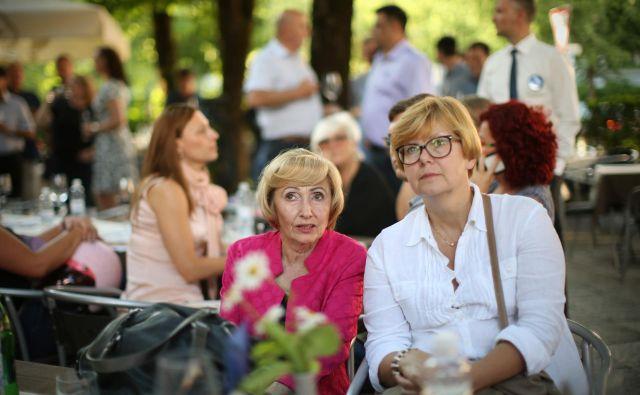 Milojka Kolar Celarc in vodja njenega kabineta Majda Hostnik. Foto Jure Eržen/Delo