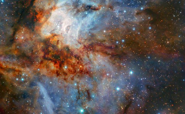 Nova opazovanja zvezdne kopice RCW 38 z Zelo velikim teleskopom v Čilu. FOTO: ESO/K. Muzic