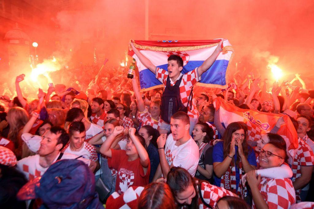 FOTO:Evforija na hrvaški, obup na angleški strani (FOTO + VIDEO)