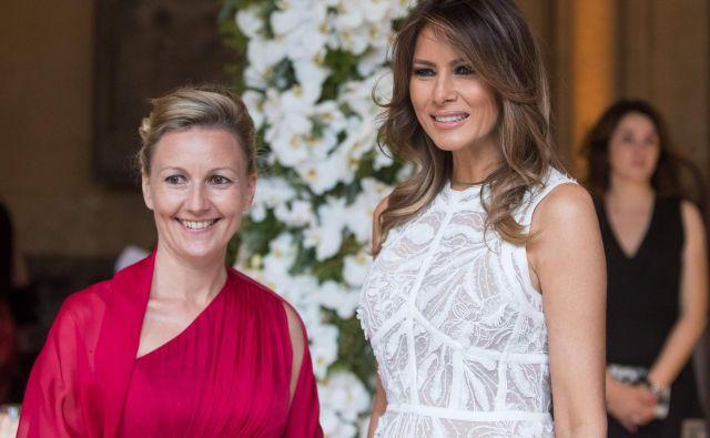 Z Melanio Trump se je srečala tudi Mojca Stropnik, partnerka našega ministrskega predsednika v odstopu Mira Cerarja.<br /> FOTO:Stephanie Lecocq/AFP