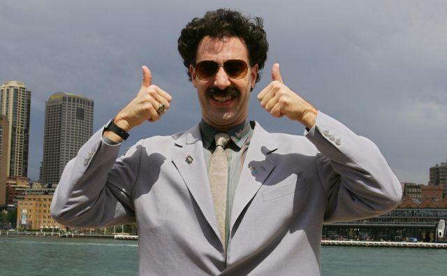 Igralec Sacha Baron Cohen kot Borat. FOTO:David Gray/Reuters