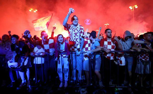 Zmaga hrvaške na polfinalni tekmi v Rusiji se bo zapisala v zgodovino. FOTO: Antonio Bronic/Reuters