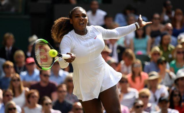 Serena Williams bo deset mesecev in pol po porodu igrala v finalu Wimbledona.<br /> Foto Reuters