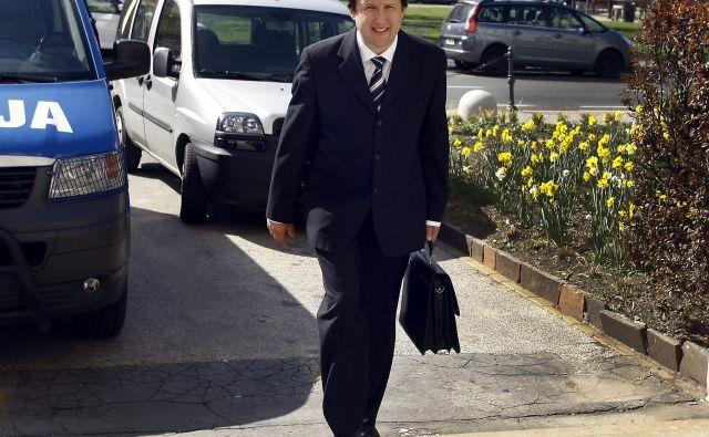 Stanislav Meglič že dolga leta obiskuje sodno palačo. FOTO: Aleš Černivec