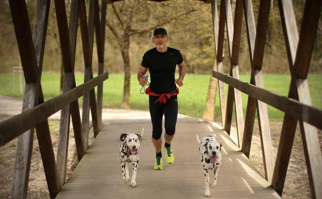 Na javnih površinah morajo imeti lastniki psov svoje kosmatince vedno na povodcu, sicer jih lahko doleti globa do 400 evrov. FOTO: Jure Eržen/Delo