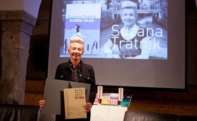 Prvo nagrado novo mesto je lani prejela Suzana Tratnik. Foto Bostjan Pucelj