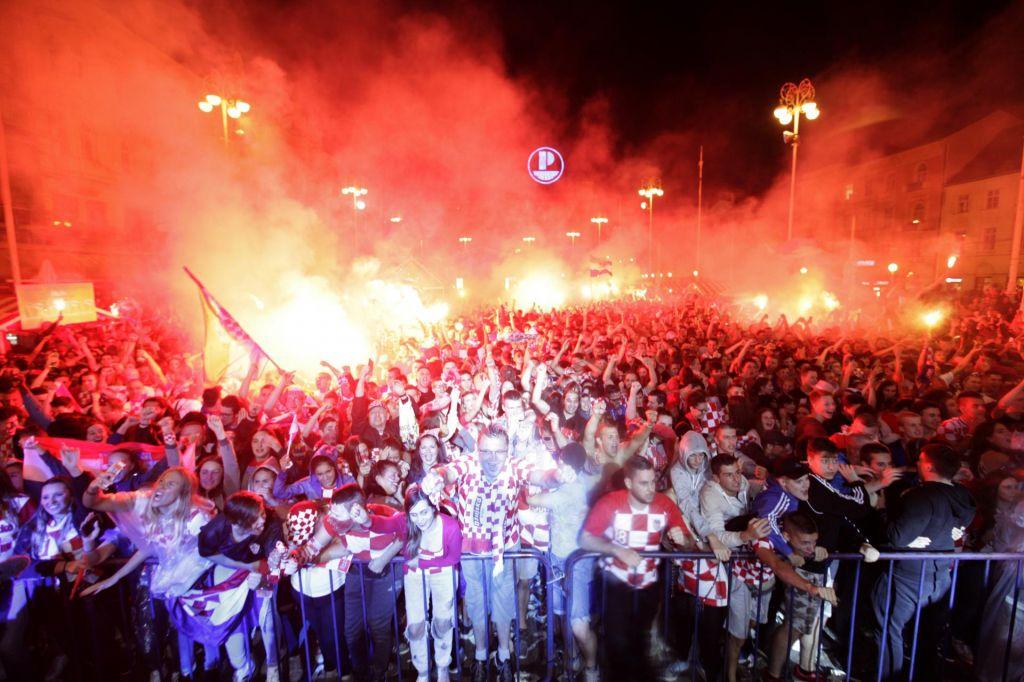 Hrvati so tako slavili, da so zatresli tla