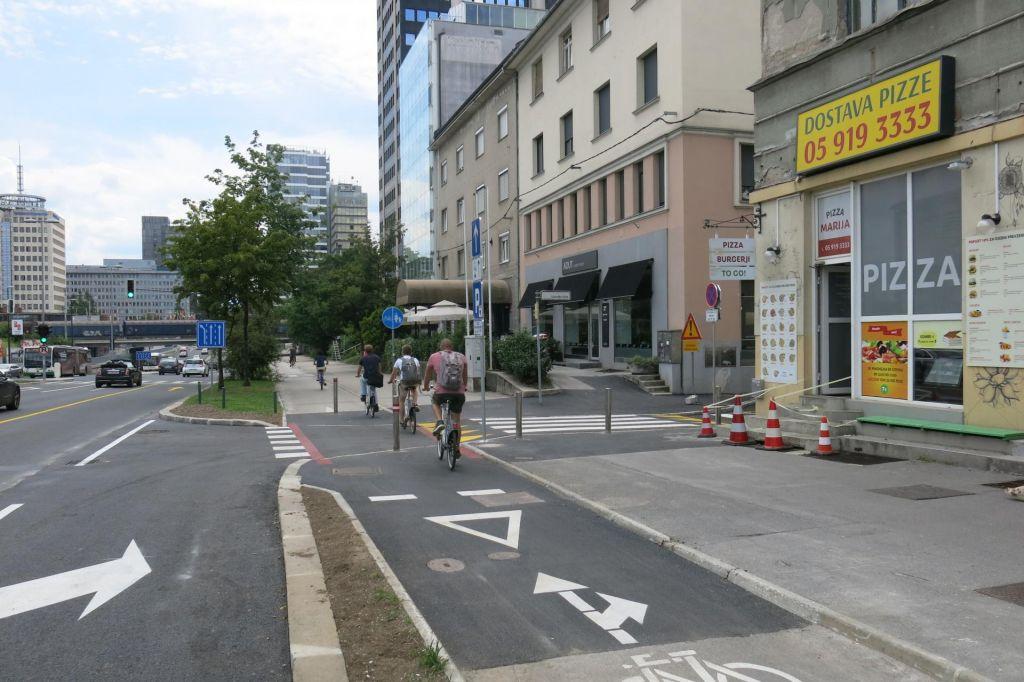 FOTO:Kolesarji, pazite se križišča Dunajske z Livarsko