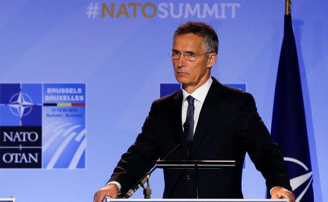 Generalni sekretar zavezništva Jens Stoltenberg je spomnil, da je navzočnost ameriških sil v Evropi ključna za projekcijo ameriške moči v Afriki, Aziji in na Bližnjem vzhodu. FOTO: Reuters