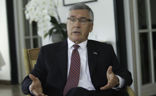 Brent R. Hartley, veleposlanik ZDA v Sloveniji. FOTO: Jože Suhadolnik