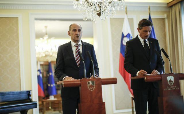 Predsednik Borut Pahor čaka na sporočilo Janeza Janše, prvaka SDS, ali bo sprejel mandatarstvo za sestavo 13. slovenske vlade. Foto Uroš Hočevar