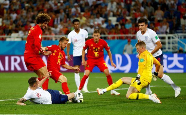 Belgijci in Angleži se bodo srečali drugič v 16 dneh, danes je vložek vendarle večji kot na zadnji tekmi skupinskega dela. FOTO: Reuters
