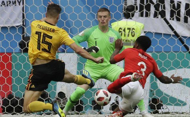 Thomas Meunier je postal deseti strelec za belgijsko reprezentanco, ko je že v četrti minuti premagal Jordana Pickforda.