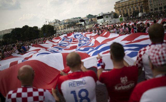 Hrvaško domoljubje je ob uvrstitvi v veliki finale svetovnega prvenstva izbruhnilo domala po vsem svetu.<br /> Foto AP