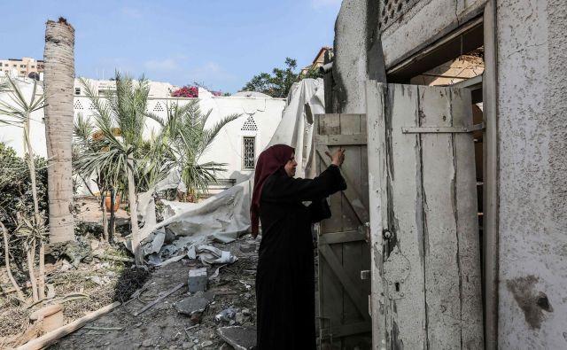 Območje Gaze po bombardiranju.<br /> FOTO AFP