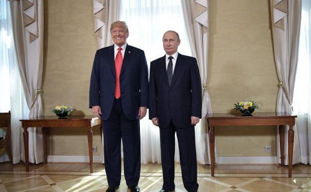 Donald Trump in Vladimir Putin FOTO: Aleksey Nikolskyi/AFP