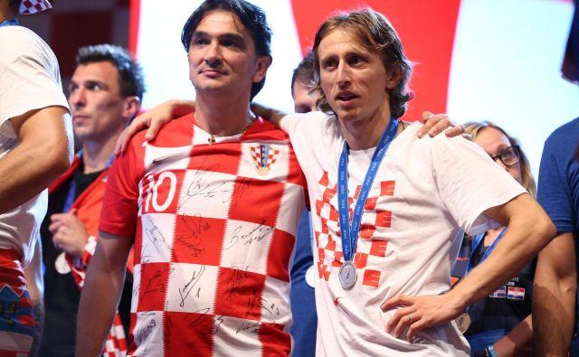 Trener Zlatko Dalić in nogometaš Luka Modrić FOTO: Antonio Bronic/Reuters