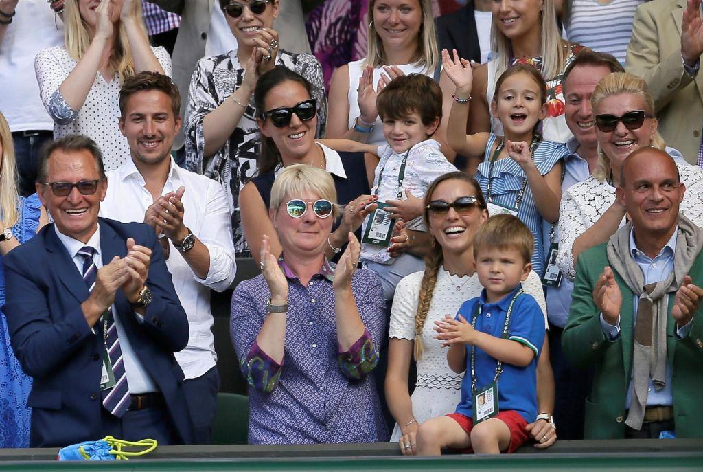 FOTO:Novakov sin s tribun vpil: »Očka, očka!«