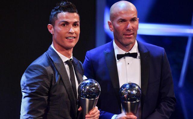 Bosta Zinedine Zidane in Cristiano Ronaldo skupno športno pot nadaljevala pri stari dami? FOTO: Ben Stansall/AFP