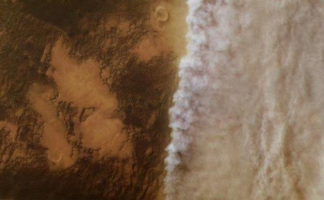 Peščeni vihar na Marsu. FOTO: ESA/DLR/FU Berlin