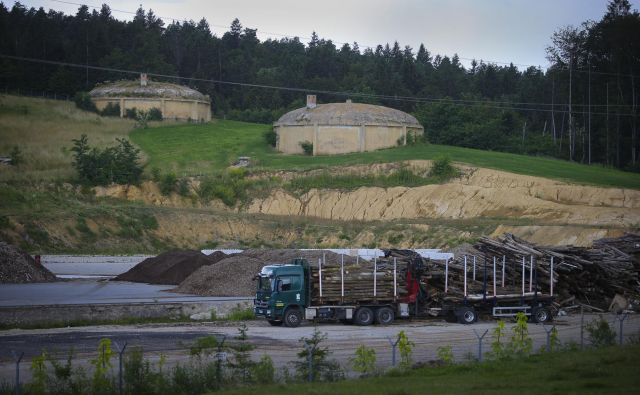Od prvotnih načrtov o gradnji lesnopredelovalnega centra je ostala le predelava lesnih odpadkov, iz katerih se kadi, praši in širi smrad. Foto Jože Suhadolnik