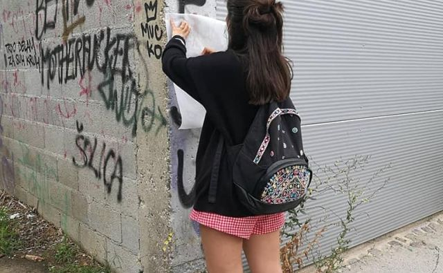 Predloge za preoblikovanje grafitov po Celju bodo mladi poslali občini. FOTO: CMLC