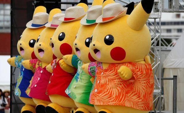 Maskote pikačuja, najbolj znanega pokemona, na dogodku v japonski Jokohami FOTO: Reuters