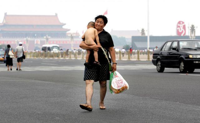 Kitajska.Peking.06.08.2008.Prizor z trga Tiananmen.