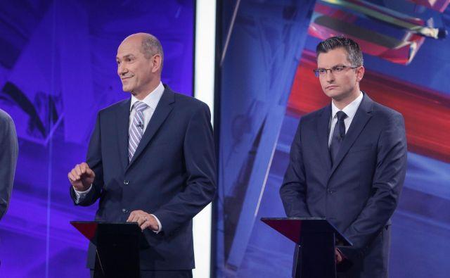 Janez Janša in Marjan Šarec. FOTO: Mediaspeed