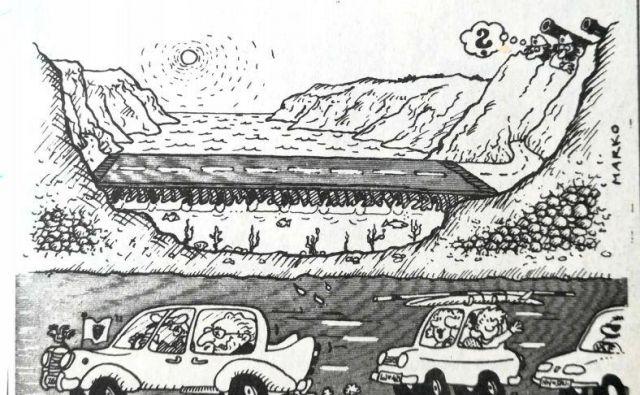Prva karikatura Marka Kočevarja na naslovnici Dela.KARIKATURA: Marko Kočevar