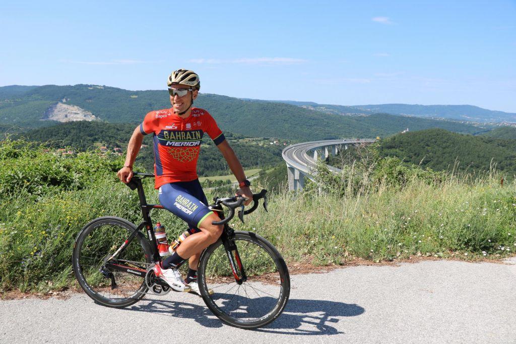 FOTO:Kristijan Koren na progi triatlona IRONMAN 70.3 Slovenska Istra