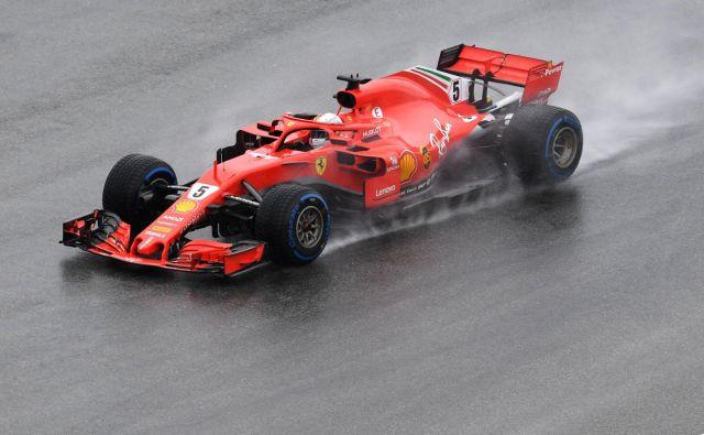 Sebastian Vettel je bil v kvalifikacijah najhitrejši petič letos. FOTO: Christof Stache/AFP