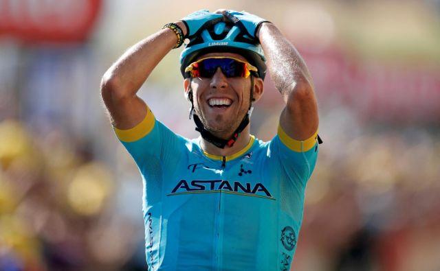 Omar Fraile se je razveselil prve etapne zmage na Touru. FOTO: Benoit Tessier/Reuters