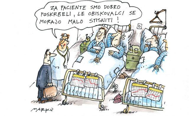 Skrb za paciente KARIKATURA: Marko Kočevar