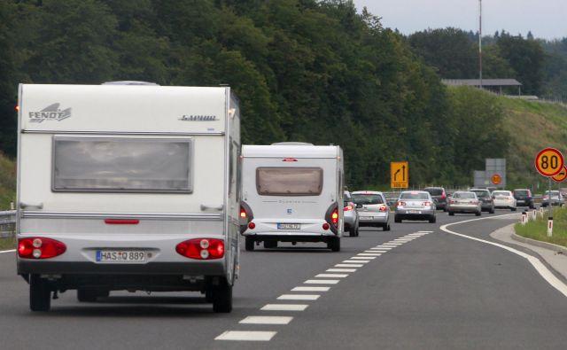 Promet bo danes povečan v obratni smeri - proti notranjosti države. FOTO: Leon Vidic