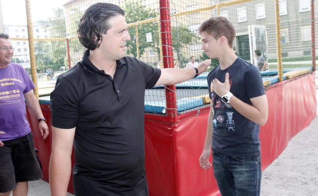 Zlatko Zahović in sin Luka Zahović sta gotovo med glavnimi zvezdniki blagovne znamke PrvaLiga. Foto Marko Pigac