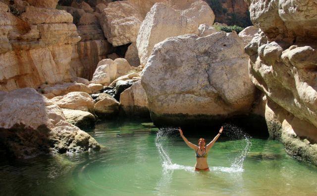 Puščavski Oman ponuja tudi osvežitve. Foto Manca Čujež